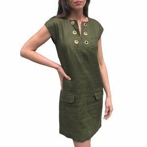 J. Crew- Linen Shift Dress